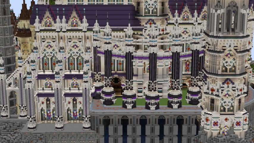 データパックで高度限界を上げてファンタジーな城をぷっこ村に作る5