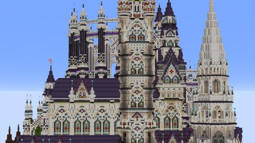 データパックで高度限界を上げてファンタジーな城をぷっこ村に作る6